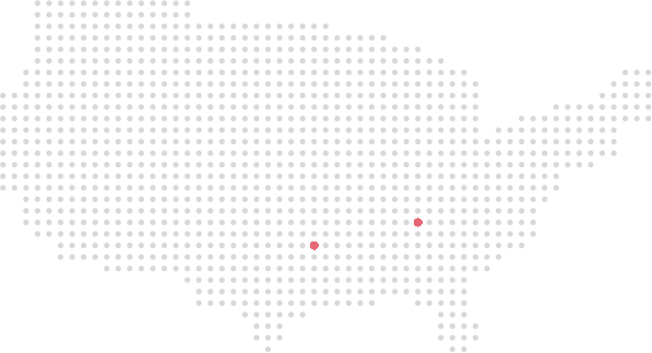 United States dotted map